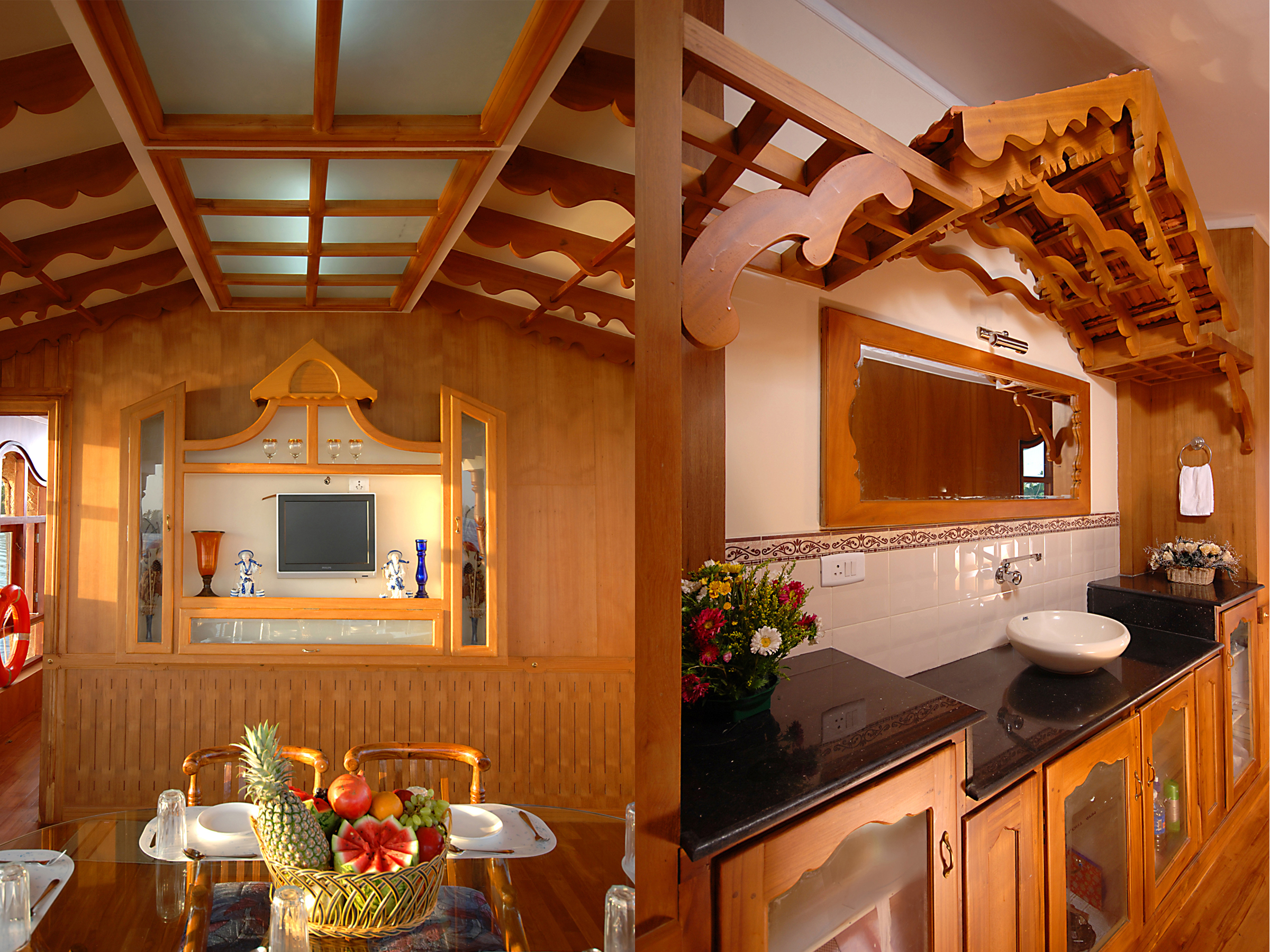 Kerala premium houseboats Boat interior design ideas home